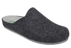 Kapcie Dr BRINKMANN 220215-9 Grafitowe Pantofle domowe Ciapy