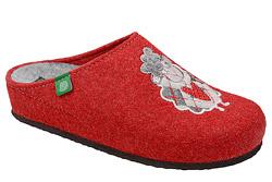 Kapcie Dr BRINKMANN 320011-04 Czerwone Pantofle domowe Ciapy