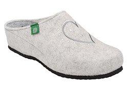 Kapcie Dr BRINKMANN 330149-81 Beżowe Pantofle domowe Ciapy