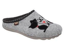 Kapcie MANITU 320579-9 Popielate Pantofle domowe Ciapy