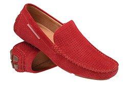 Mokasyny buty wsuwane BADURA 3219 Czerwone