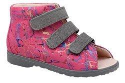 Sandałki Profilaktyczne Ortopedyczne Buty DAWID 1041 Różowe M2