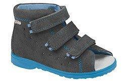 Sandałki Profilaktyczne Ortopedyczne Buty DAWID 1041 Szary+N SZN JP+N