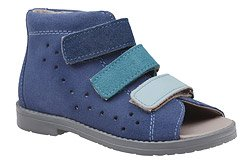 Sandałki Profilaktyczne Ortopedyczne Buty DAWID 1042 Niebieskie GJNP