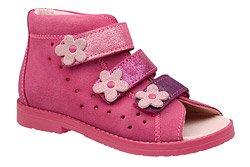 Sandałki Profilaktyczne Ortopedyczne Buty DAWID 1042 Różowy RB