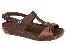 Sandały LANQIER 34C386 Brązowe