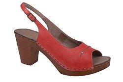 Sandały MANITU 910509-4 Czerwone Peep Toe