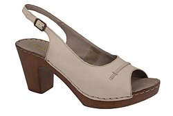 Sandały MANITU 910509-8 Beżowe Peep Toe