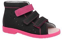 Sandały Profilaktyczne Ortopedyczne Buty DAWID 1043 Czarne CZR