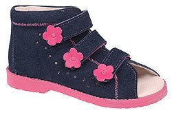 Sandały Profilaktyczne Ortopedyczne Buty DAWID 1043 Granat+Róż GRC