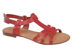 Sandały damskie VERONII 3492 Czerwone Malina