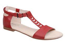 Sandały damskie VERONII 5223 Czerwone L19