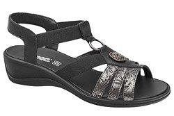Włoskie Sandały IMAC 708200 Czarne na haluksy