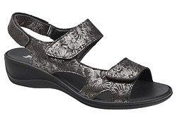 Włoskie Sandały IMAC 708220 Czarne na rzepy