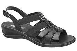 Włoskie Sandały IMAC 708230 Czarne na haluksy