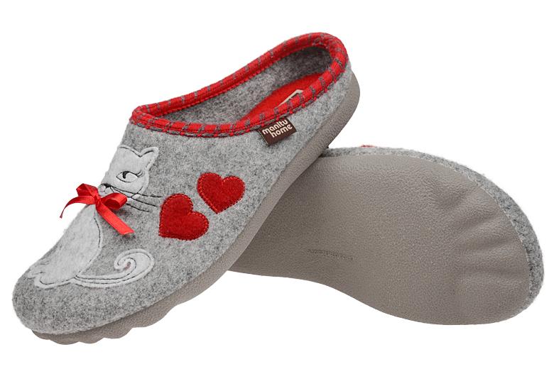 4a5a62e5 Kapcie MANITU 320515-91 Popielate Pantofle domowe Ciapy - Sklep ...