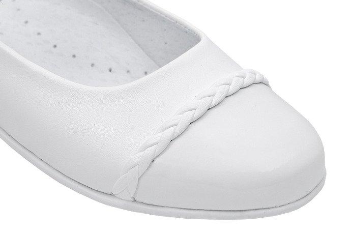 Balerinki buty komunijne KORNECKI 6271 Białe