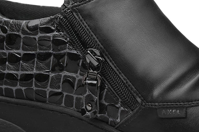 Botki AXEL Comfort 1766 H Czarne na 2-zamki