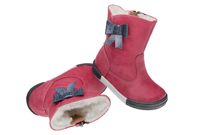 Botki Kozaczki zimowe KORNECKI 4804 Fuxia Różowe ocieplane