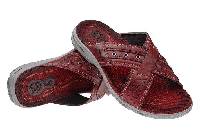 Brazylijskie Klapki PEGADA 30651 Bordowe/Czerwone