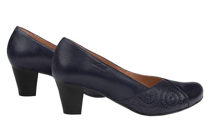 Czółenka na obcasie buty AXEL Comfort 1304 Granatowe