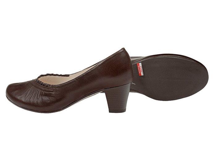 Czółenka na obcasie buty AXEL Comfort C608 Brązowe H