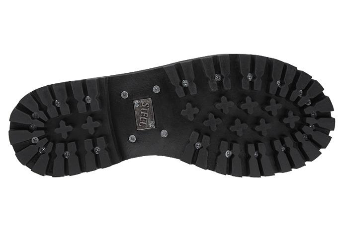 Glany STEEL 10-tki 106/O Czarne 10-dziurek
