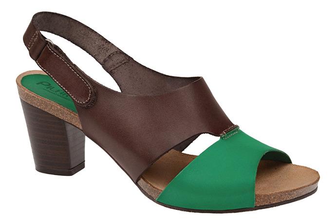 Hiszpańskie Sandały PILAR MONET 14021 Esmeralda Moka