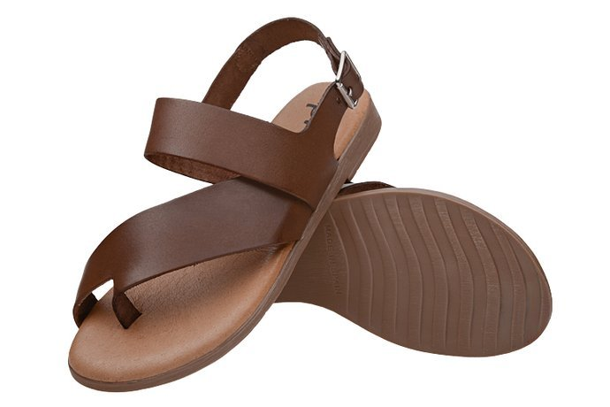 Hiszpańskie Sandały PRESSO 2246 Brązowe