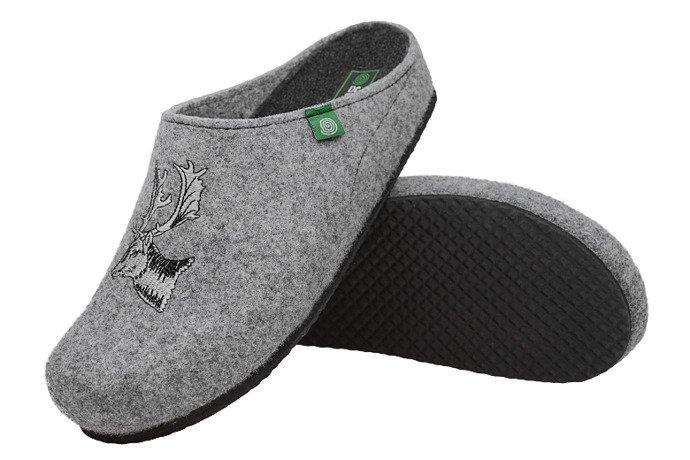 Kapcie Dr BRINKMANN 220259-9 Popielate Pantofle domowe Ciapy