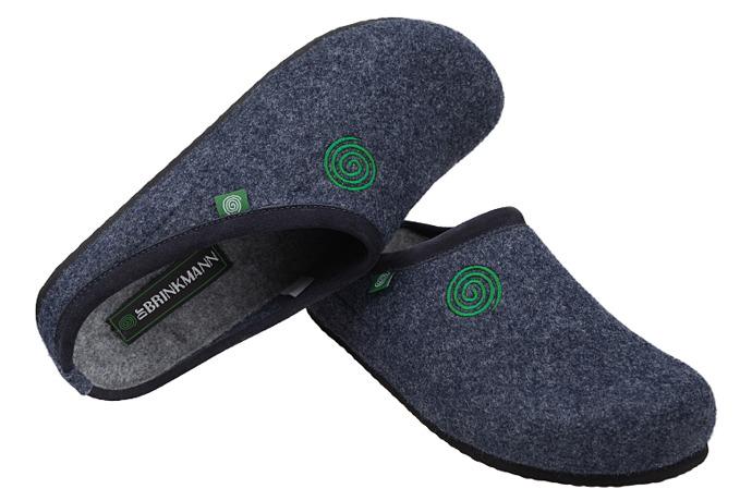 Kapcie Pantofle domowe Ciapy Dr Brinkmann 220240-5 Granatowe