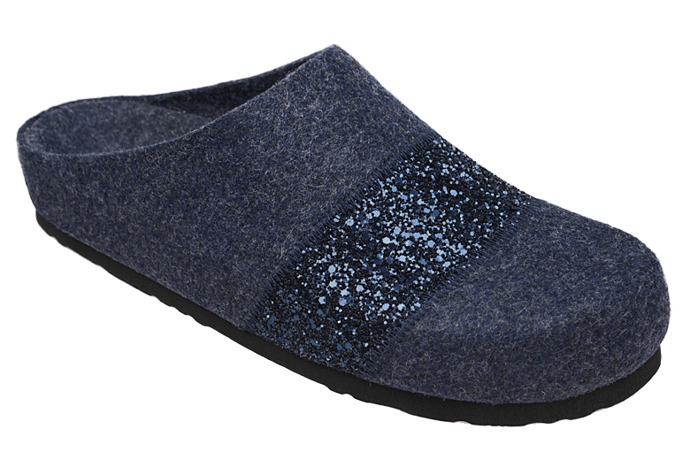 Kapcie Pantofle domowe Ciapy Dr Brinkmann 320501-5 Granatowe