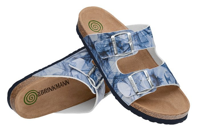 Klapki Dr Brinkmann 700006-05 Niebieskie Multi