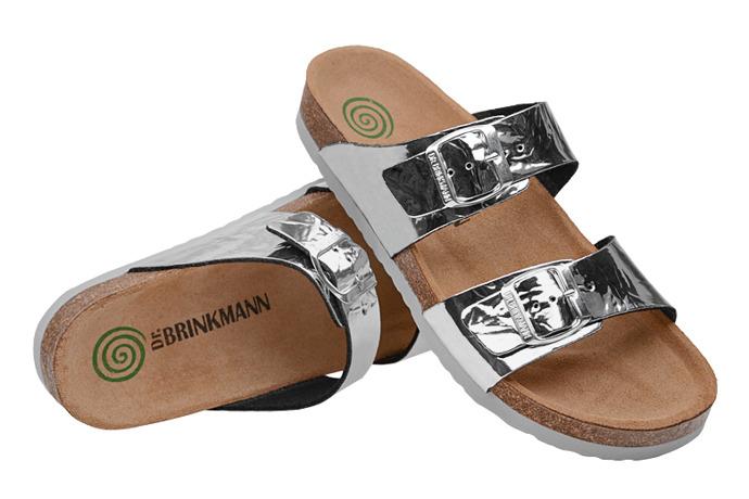 Klapki Dr Brinkmann 701272-92 Srebrne