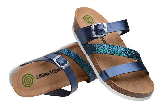 Klapki Dr Brinkmann 701280-5 Granatowe Brokat