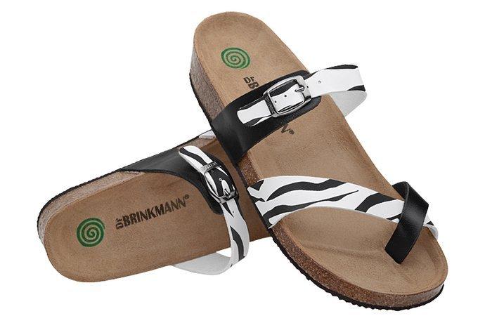Klapki Japonki Dr Brinkmann 700062-03 Zebra