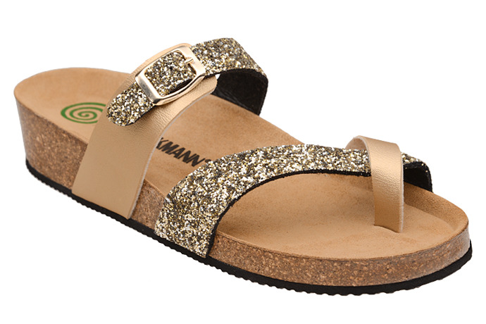 Klapki buty Dr Brinkmann 701035-82 Złote