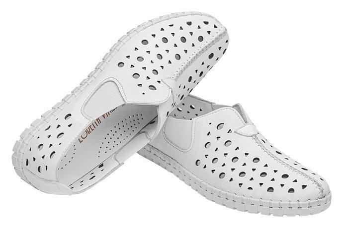 Komfortowe Mokasyny LORETTA VITALE 2059 Białe