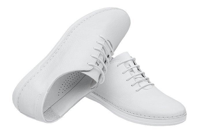 Komfortowe Półbuty LORETTA VITALE 221 Białe
