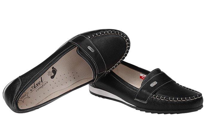 Mokasyny wsuwane buty AXEL Comfort 1513 Black