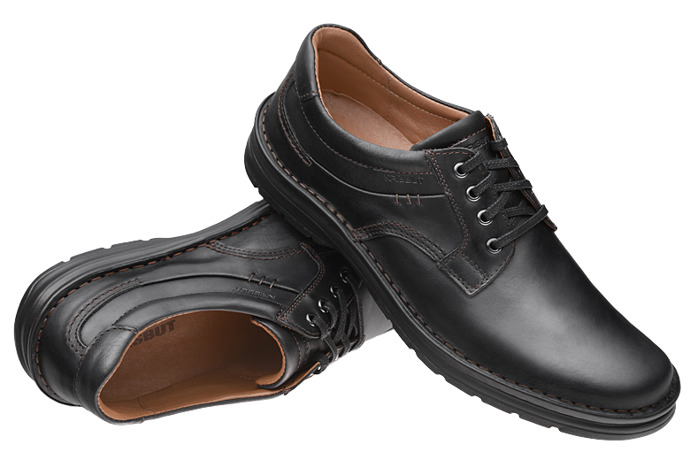 Półbuty KRISBUT 4560-6-9 Czarne sznurowane