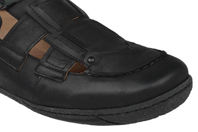 Półbuty Sandały KACPER 1-0755-575 Czarne
