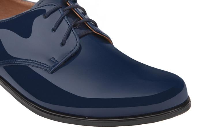 Półbuty komunijne wizytowe Lakierki buty KMK 99 Granatowe