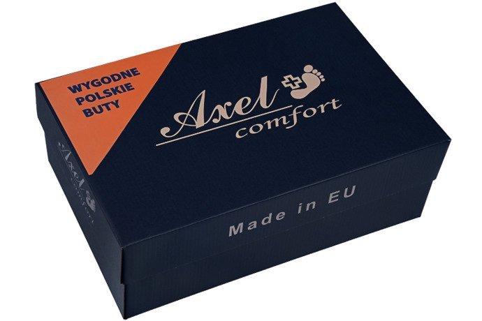 Półbuty na koturnie AXEL Comfort 1330 Rubin Bordowe