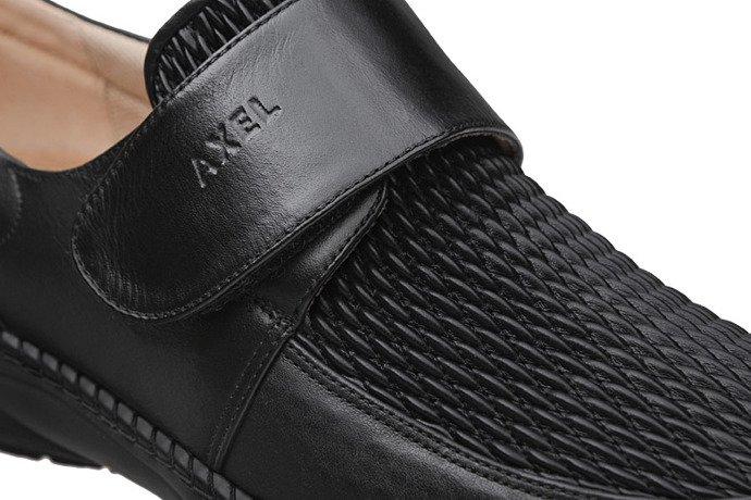 Półbuty na rzepy AXEL Comfort 1206 Czarne