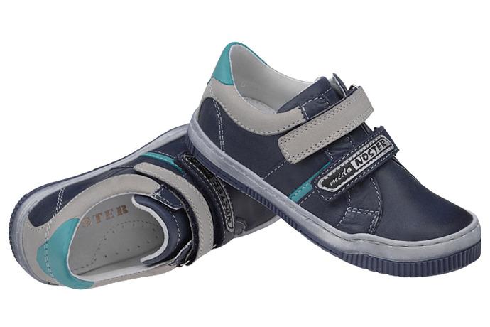 Półbuty na rzepy buty MIDO NOSTER 336 Granatowe