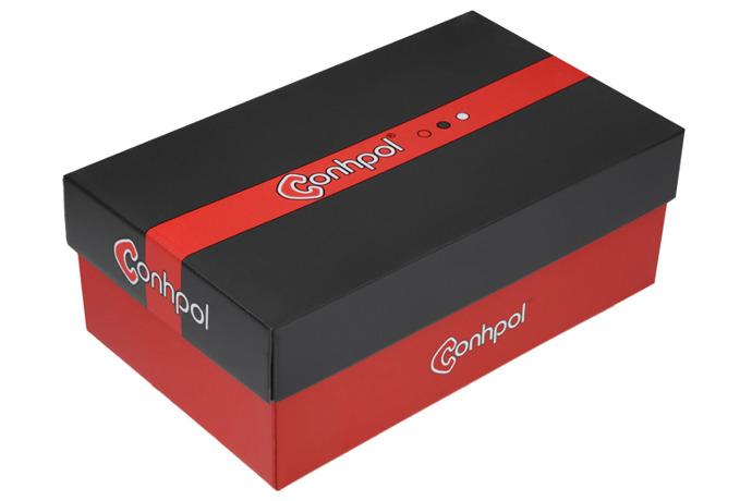 Półbuty sznurowane CONHPOL CE-3876
