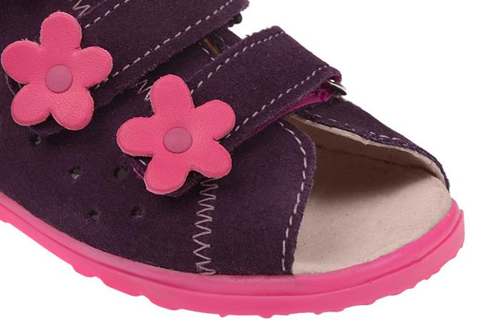 Sandałki Profilaktyczne Ortopedyczne Buty DAWID 1041 Fiolet FC