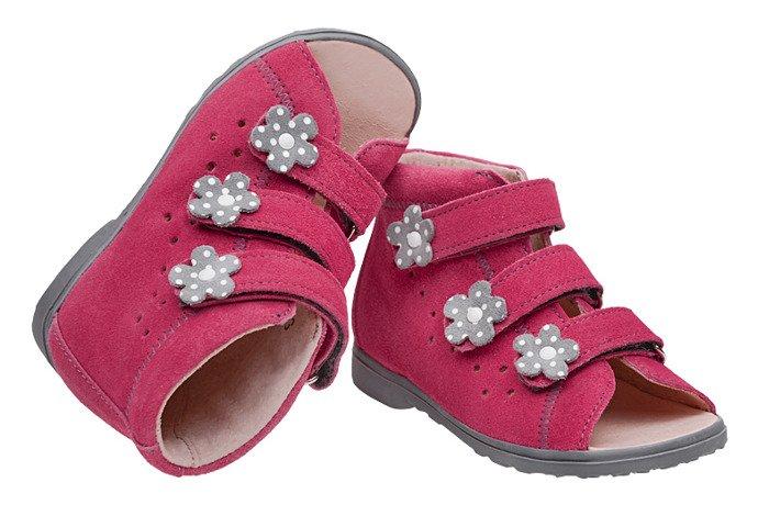 Sandałki Profilaktyczne Ortopedyczne Buty DAWID 1041 Różowe RCSZ