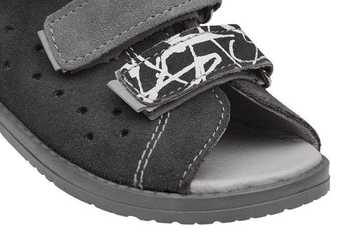 Sandałki Profilaktyczne Ortopedyczne Buty DAWID 1041 Szary SZPZB
